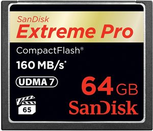 SanDisk 64GB 160MB/s Extreme Pro CompactFlash Memory Card