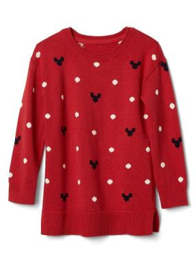 Babygap &#124 Disney Baby Mickey Mouse And Dots Sweater Tunic - Modern red