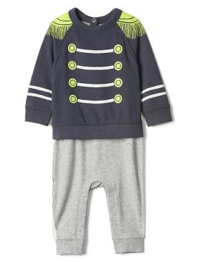Babygap &#124 Disney Baby Dumbo Band Leader Double Layer One Piece - Equinox blue