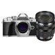 0lympus E-M10 Mark III OM-D Kit with ED 12-40mm lens Digital Cameras - Silver