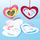 3D Spiral Heart Decorations