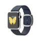 Apple Watch MJ332 38mm Stainless Steel Case with Blue Modern Buckle (Small)