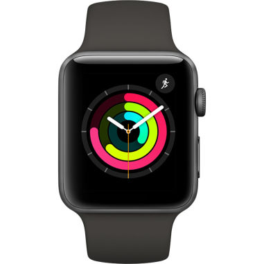 Apple Watch Series 3 - 38mm Space Gray Aluminium Case with Gray Sport with 3D Curved Premium Tempered Glass Screen Prote