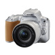 Canon EOS 200D Kit with EF-S 18-55mm f/4-5.6 IS STM Silver Lens Digital SLR Cameras - Silver