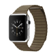 Apple Watch MJ402 42mm Stainless Steel Case with Brown Leather (Medium)