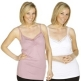 Pack Of Two Lace-Trimmed Camisole Tops