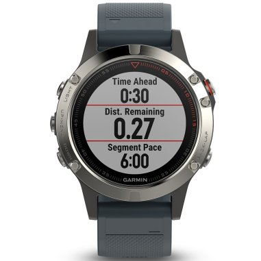 Garmin Fenix 5 Silver with Granite Blue Band Multisport GPS Watch (without HRM strap)