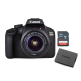 Canon EOS 4000D Kit with 18-55 III Lens and LP-E10 battery and Sandisk 16GB Ultra SD Memory Card