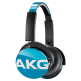 AKG Y50 Teal On-Ear Headphone with In-Line One-Button Universal Remote/Microphone - Teal (Blue)