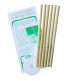6 organic beeswax ear candles