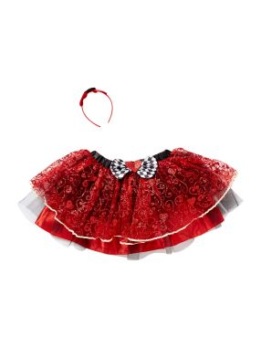 Travis Designs Queen Of Hearts Tutu And Headband Set, Red