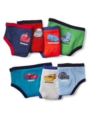Babygap &#124 Disney Baby Cars Days Of The Week Briefs (7 Pack) - Multi