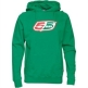 55 DSL Mens Flogo Hooded Sweat Green