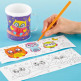 3 Little Owls Colour-in Mugs