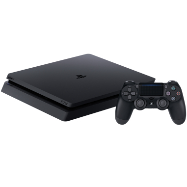 S0NY PlayStation 4 (PS4 Slim) 500GB with 1pc Wireless Controller - Jet Black (CUH-2106A B01) A region Blueray