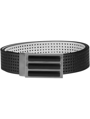 Adidas 3-Stripes Perforated Reversible Belt, Black