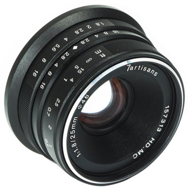 7artisans Photoelectric 25mm f/1.8 Lens for Canon EF-M Mount - Black