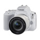 Canon EOS 200D Kit with EF-S 18-55mm f/4-5.6 IS STM Silver Lens Digital SLR Cameras - White