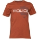 883 Police Mens Chargrin T-Shirt Burnt Orange