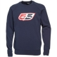 55 DSL Mens Flogo Crew Sweat Navy