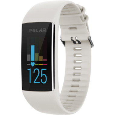 Polar A370 Fitness Tracker with Wrist-based Heart Rate Monitor (Medium/Large) - White