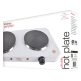 Lloytron KitchenPerfected 2500w Double Hotplate in White