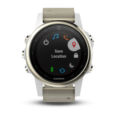 Garmin Fenix 5S Champagne Sapphire with Gray Suede Band Multisport GPS Watch (without HRM strap)
