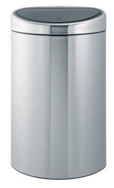 Brabantia 40 Litre Touch Bin in Matt Steel