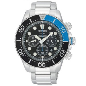 Seiko Solar Chronograph Diver's 200M Watch - SSC017P1