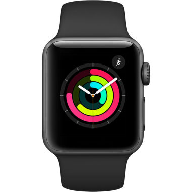 Apple Watch Series 3 - 38mm Space Gray Aluminium Case with Black Sport Band - MTF02 (MQKV2)