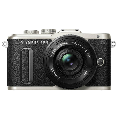 0lympus PEN E-PL8 Body with 14-42mm EZ Lens Mirroless Digital Cameras - Black