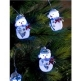 8 White LED Snowmen Indoor Light Set