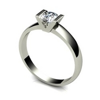 18ct Gold 0.50ct eq Solitaire V Shaped Ring