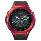 Casio WSD-F10RD Smart Outdoor Watch with Android Wear - Red