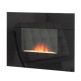 Adam Nexus Black Glass Electric Fire