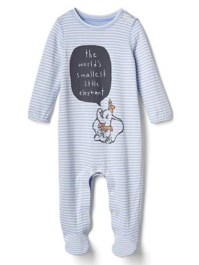 Babygap &#124 Disney Baby Dumbo Double Face Footed One Piece - Wind blue